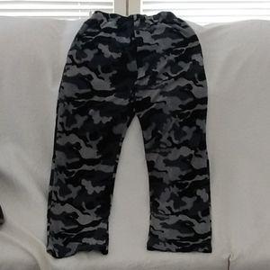Gray camo 100% cotton jammies
